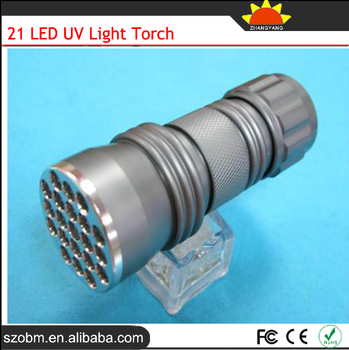 21 Led 395nm Purple Light UV Flashlight For Sales Promotion