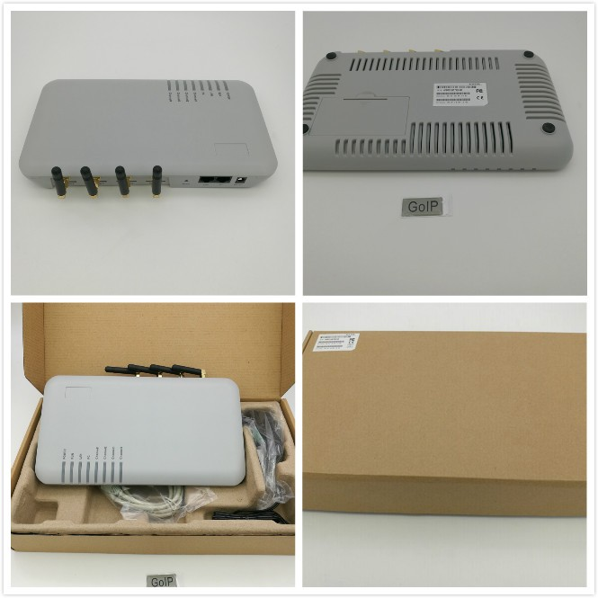 VOIP GSM gateway with 4 ports