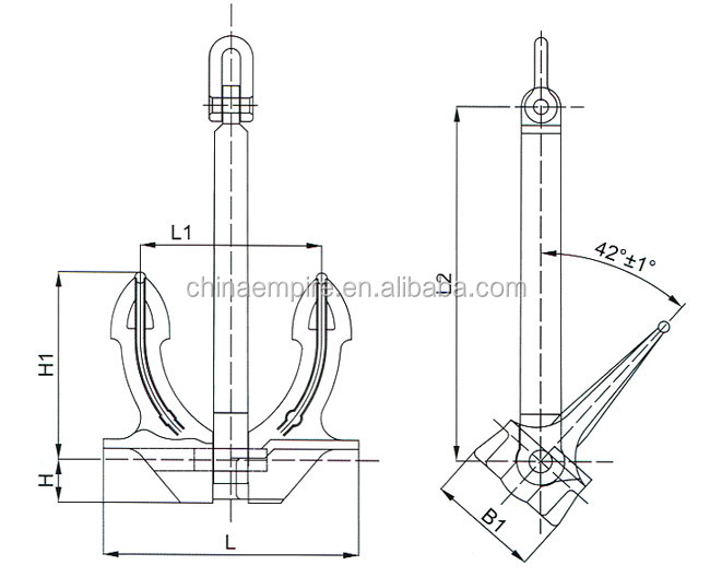 High Quality Marine Ship Japan Stockless Anchor For Boat With Certificates
