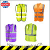 Green/ Yellow/ Orange Economic Safety Vest with Pockets