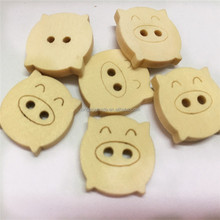 Pig shaped Wooden Buttons for Clothing Scrapbooking Sewing Crafts Material Accessories Tools Buttons for Needlework