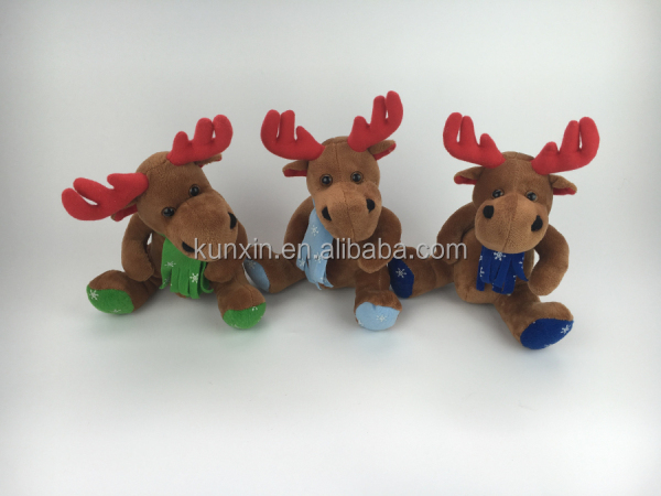 2016 Christmas plush toys handmade christmas plush toys for crane machine