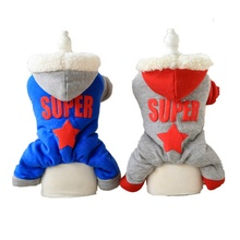 Polyester and cotton pet clothes four legs winter jumpsuit dog clothes for dog