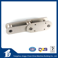 Double pitch M series conveyor chain with F flanged roller type