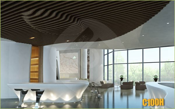 stylish design easy installation new tech wpc modern building material types of false ceiling board