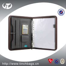 A4 Portfolio/leather folder /organizer professional supplier