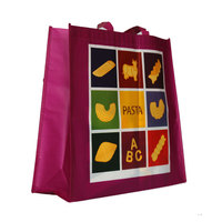 Promotion pp non woven bag custom tote with printing logo
