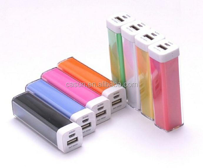 Free sample 2600mah lipstick emergency mobile phone charger
