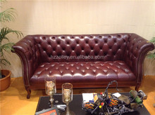Modern leather sofa chesterfield 3 seater living room sofa set for sale