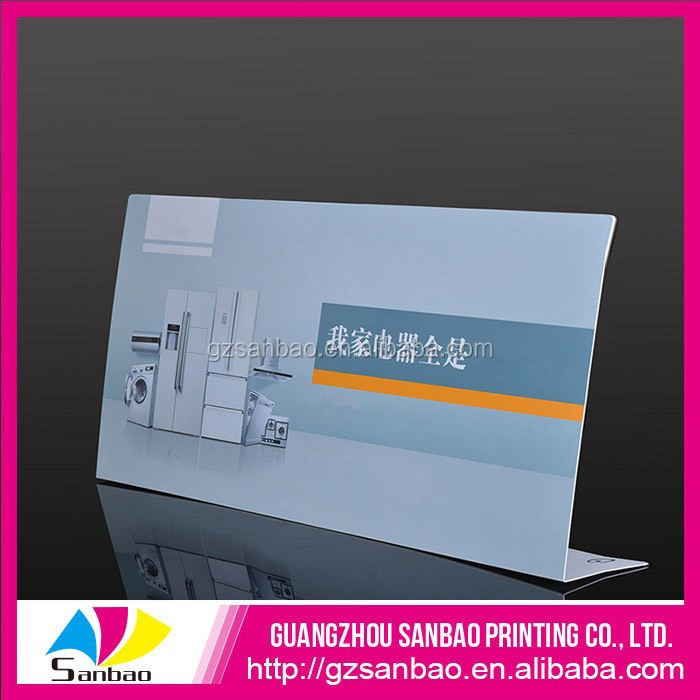 Promotional counter advertising sign,promotional table display