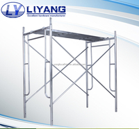 good quality hot dip galvanized steel walk through scaffolding ladder frame with lock pin
