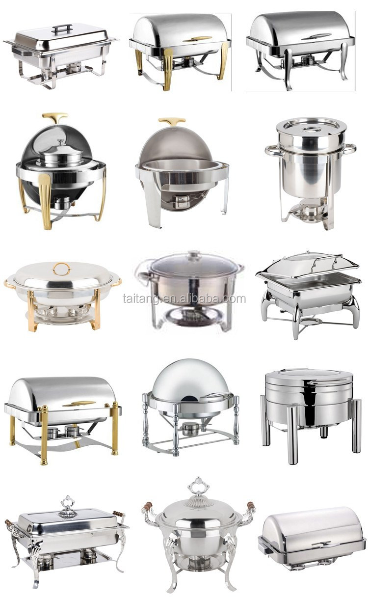 Hotel kitchen equipment list stainless steel chafer for Kitchen equipment list