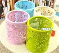 round metal wire mesh pencil holder,pen holder wholesale for advertising and promotional Pen Holder for office