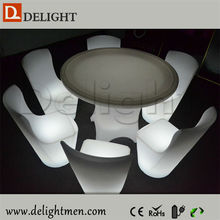 Promotion Plastic round lighting up led rotating round tables