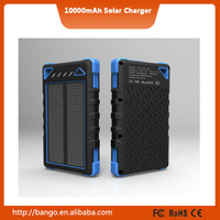 2015 Sinobangoo slim portable phone charger solar panels 10000mah with dual usb