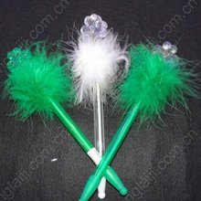 shamrock flashing feather pen