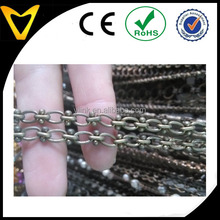 Decoration Accessory Type brass Link chain for jewelry,clothing,bags decorative brass chain