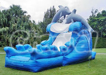 inflatable dolphin water slide for sales