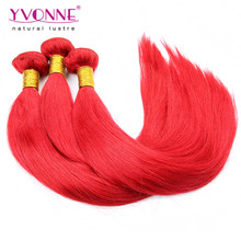 Wholesale top quality peruvian hair red color human hair weaving
