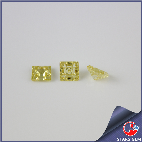 special cutting CZ yellow customized gemstone cubic zirconia jewelry stones
