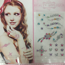 Custom transfer glitter rhinestone body tattoos, bindi sticker tattoos for face