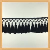 Polyester Yarn Tassel Fringe Trim For Garment , Trimming Of Home Textile