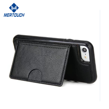 For iPhone 7 Wallet Cover Stand PU Flip with Credit ID Card Slot Holder Separable Wallet Leather Case