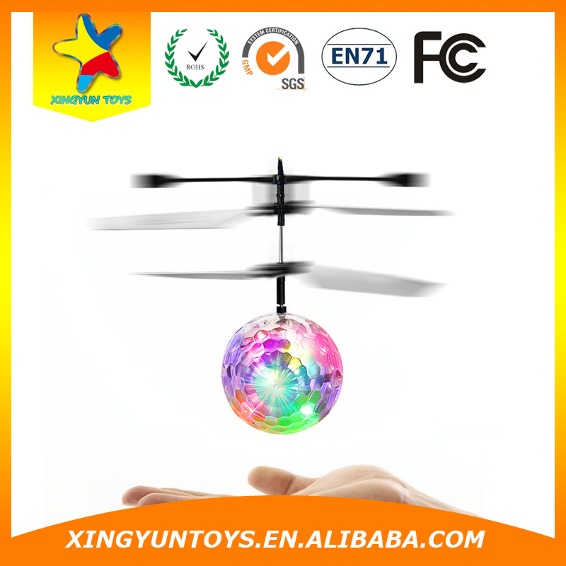 flying ball helicopter 14CM Quad Copter LED Mini Drone RC Quadcopter
