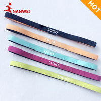 Multiple Color Custom Head Hoop Unisex Fitness Running Hair Band Mini Ptinted Headband Yoga Accessories