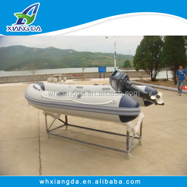 Reinforced Fiber glass rowing boat /motor boat for kids