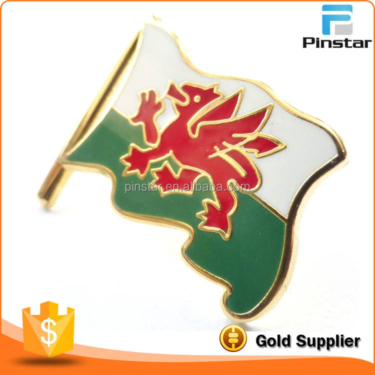 Wales Welsh Dragon Flag Pin Badge