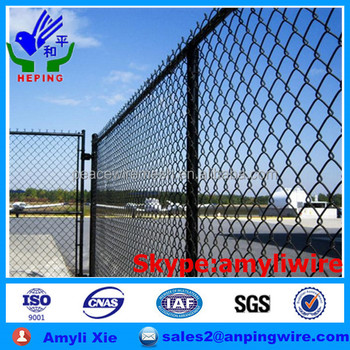 PVC chain link wire mesh fencing for garden fence