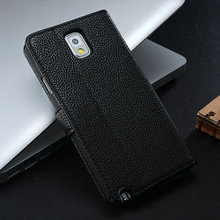 Black cool phone case for galaxy note 3 , purse leather case for samsung galaxy note 3