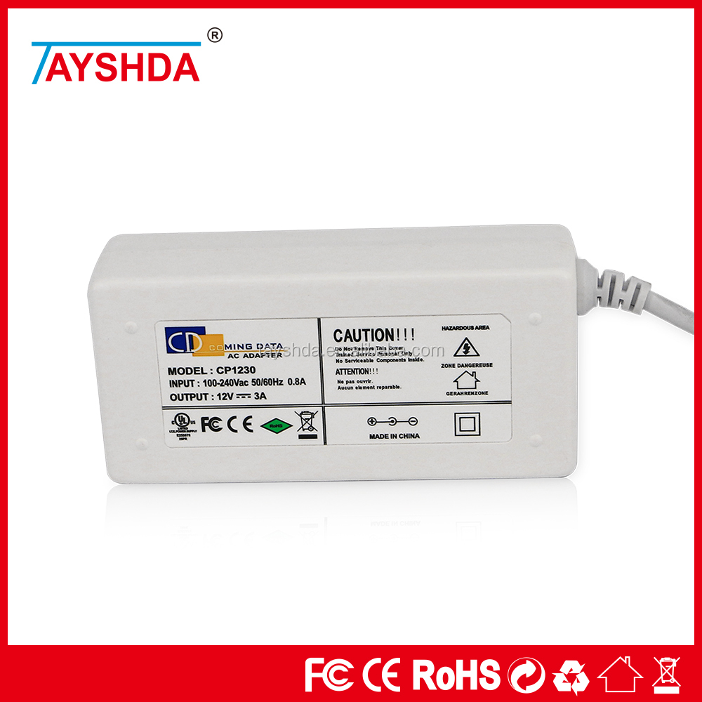 12V/3A , 100-240V AC adapter