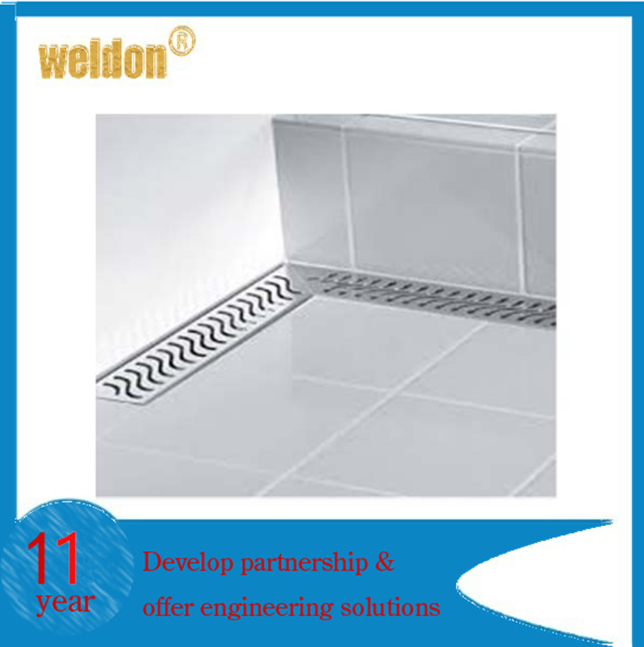 WELDON Wall corner floor drain stainless Steel shower drain