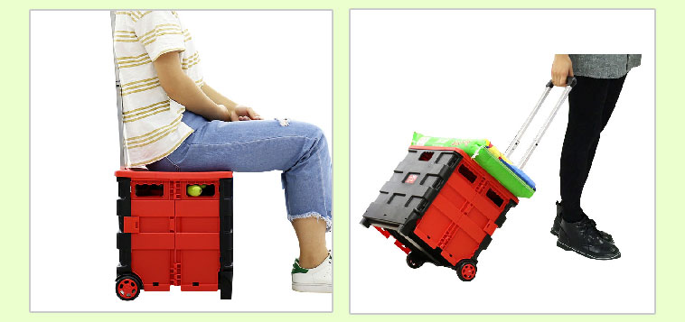 Factory Wholesale 25KG or 35KG  foldable Shopping Trolley, portable supermarket cart, portable trolley