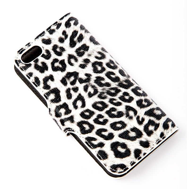 Final Clearance Premium Leopard PU Leather Flip Phone Case Ultra Thin Protective Cover Shell Guard Back for iPhone 5 5S 5G