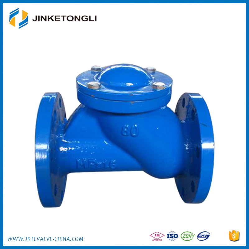 Flanged Ductile Cast Iron water syetem Flange end Swing Check Valve