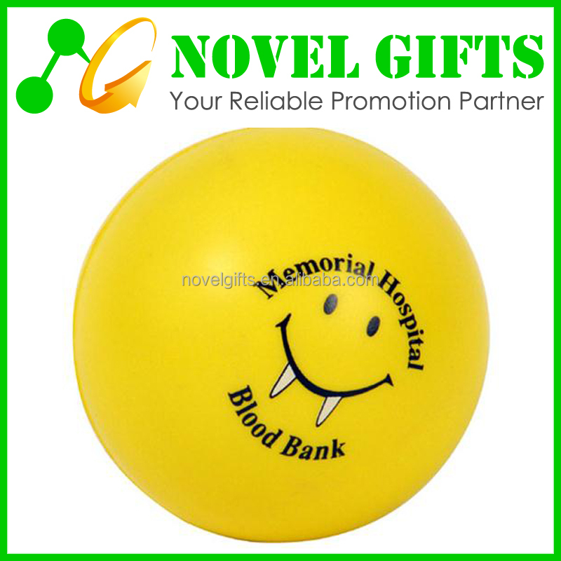 Promotion Round Shape PU Anti Stress Reliever Ball