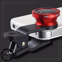 2017 hot sale Cell Phone Clip With fish eye lens 3d lens for mobile phone