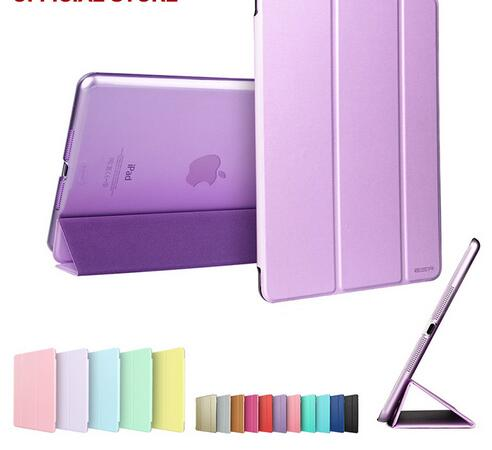 Auto Sleep Wake up slim Tablet Flip Case For <strong>iPad</strong> 6 air 2,folding Stand silk Leather Case Cover For <strong>iPad</strong> pro 9.7 2017 2018 mini