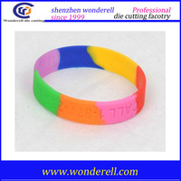 Free debossed silicone bracelet, cheap silicone wristband emergency diabetic rubber wristband