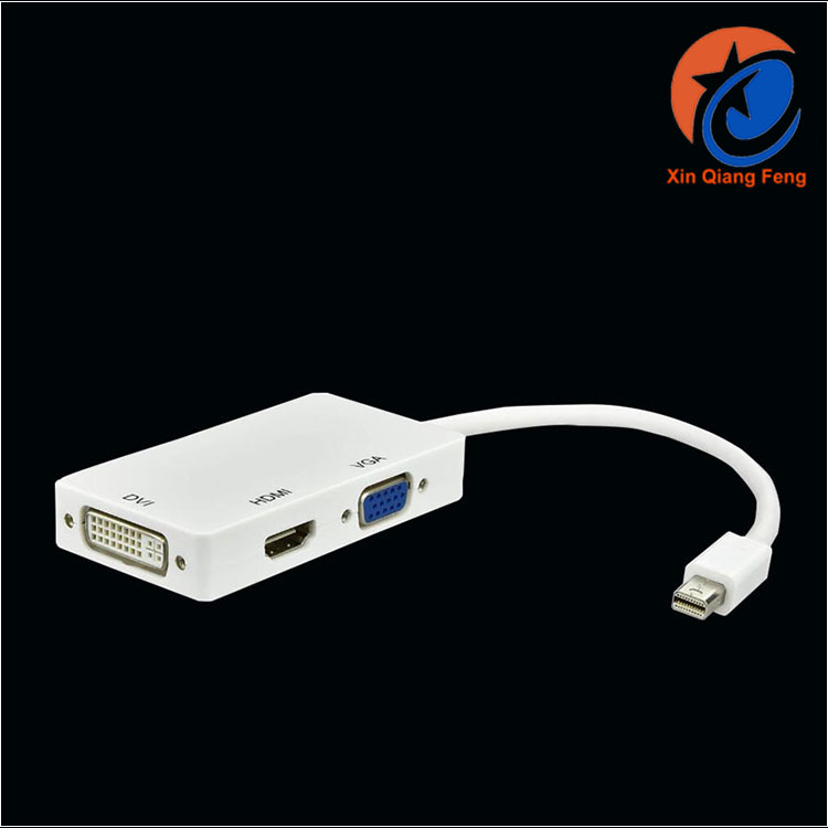 Best quality high speed 3 in 1 mini displayport thunderbolt to hdmi vga dvi adapter cable