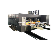 Automatic cardboard flexo printing machin corrugated paperboard ink printing slotting die-cutting carton packaging machine