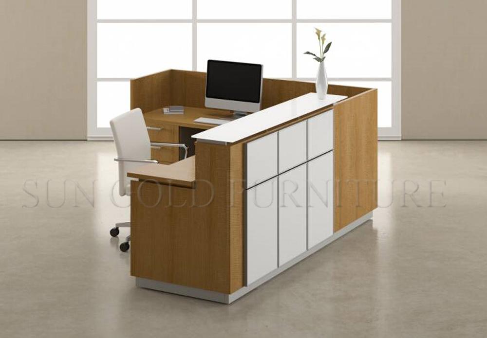 New Design Stylish Salon Office Small Reception Desk Front