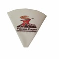 printed cardboard paper cone shaped crepe bag