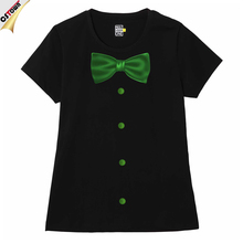 Bowknot Design Cotton High Quality Woman T-shirt