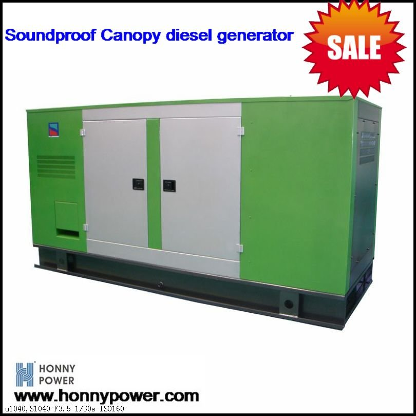 Honny Power Diesel Generator set 90kVA Silent type Shenzhen port
