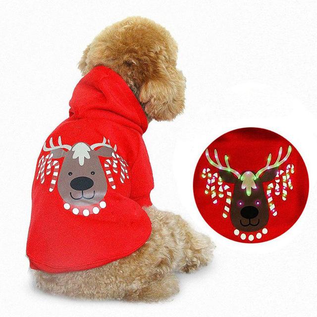 Pet Dog Clothing Dog Polyester Dog Hoodie With LED Light