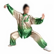 Womens High Quality Gradient Tai Chi Suits Kung Fu <strong>Sets</strong> Embroidery Performance Clothing Martial arts Uniforms